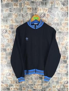 Adidas Track Top Jacket Women Medium 90s Vintage Adidas Sportswear Adidas Trefoil Three Stripes Adidas Windbreaker Black Training Size M by Adidas  ×  Windbreaker  ×