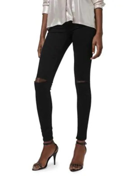 Black Ripped Joni Jeans 30 Inch Leg by Topshop