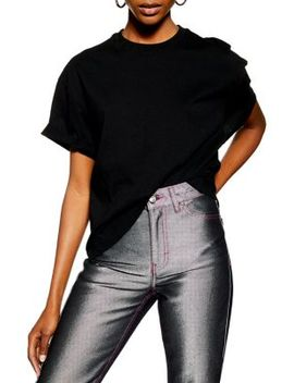 Boxy Roll Sleeve Tee by Topshop