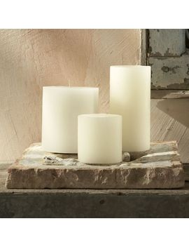 Unscented Wax Pillar Candle by West Elm