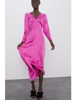 Satin Effect Slip Dress by Zara