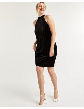 Bodycon Velvet Mock Neck Dress by Reitmans