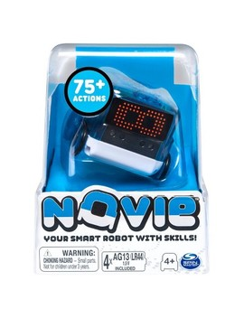 Novie Interactive Smart Robot With Over 75 Actions And Learns 12 Tricks (Blue) by Qb Robot