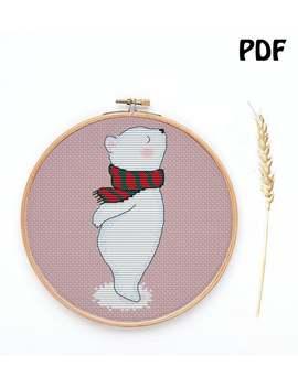 Bear Cross Stitch Pattern | Animal Cross Stitch Pattern | Cute Cross Stitch Pattern | Modern Cross Stitch Pattern | Cross Stitch Pdf Pattern by Etsy