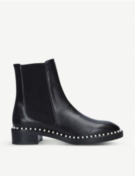 Cline Faux Pearl Embellished Leather Boots by Stuart Weitzman
