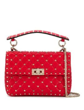 حقيبة يد مزينة بترصيع مدبب by Valentino