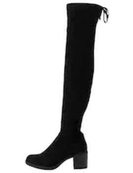 Over The Knee Boots   Black by Anna Field