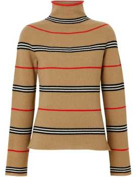 Icon Stripe Cashmere Turtleneck Sweater by Burberry
