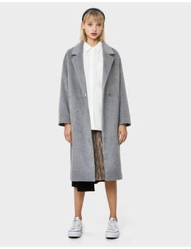 Palton Lung Cu Un Umăr Căzut by Bershka