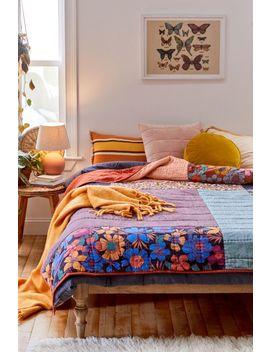 Karena Colorblock Velvet Quilt by Urban Outfitters