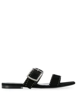 Oak Stud Flat Sandals by Saint Laurent