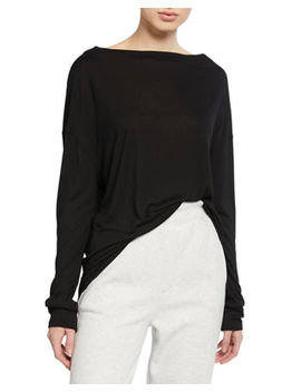 Drop Shoulder Long Sleeve Tee by Vince