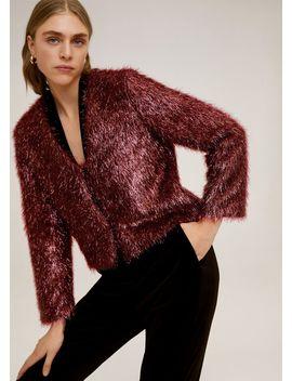 Fringed Textured Jacket by Mango