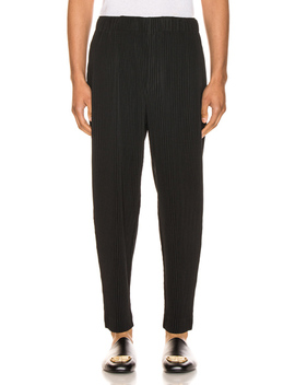 Pleated Cropped Straight Pant by Issey Miyake Homme Plisse