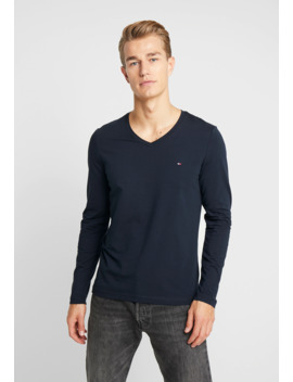 Stretch Slim Fit Vneck Tee   Long Sleeved Top by Tommy Hilfiger