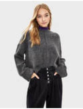 Sweter Z Kołnierzem Kominowym by Bershka