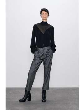 The Easy Pant Herringbone Trousers by Zara