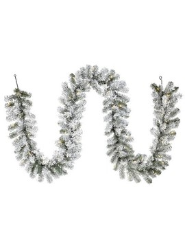 Philips 9ft Prelit Flocked Artificial Pine Christmas Garland Clear Lights by Philips