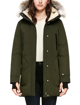 700 Fill Power Down Coat With Genuine Coyote Fur Trim by Soia & Kyo