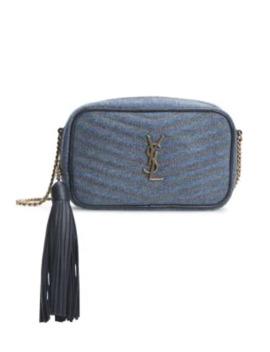 Mini Lou Denim Camera Bag by Saint Laurent