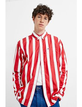 Tommy Jeans Red Stripe Long Sleeve Shirt by Tommy Jeans