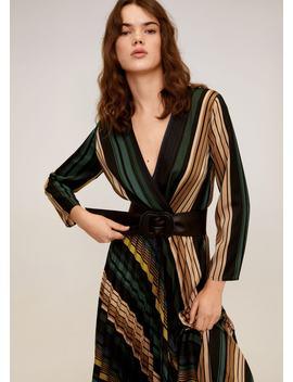 Φόρεμα Midi ριγέ by Mango