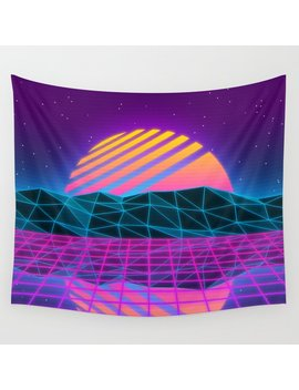 Vaporwave Sunset Wall Tapestry by Society6