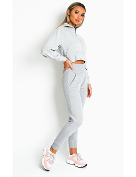 Hallie Basic Casual Joggers In Grey by Ikrush