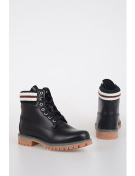 Marni Leather Combat Boots by Timberland