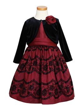 Taffeta Dress & Velvet Bolero by Sorbet