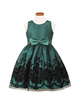 Flocked Satin Party Dress by Sorbet