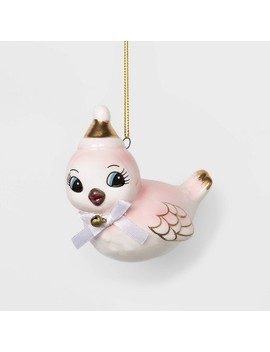 Ceramic Bird Christmas Ornament Pink   Wondershop™ by Shop This Collection