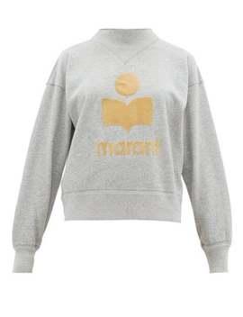 Moby Flocked Logo Cotton Blend Sweatshirt by Isabel Marant Étoile