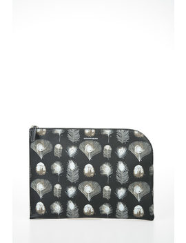 Printed Leather Pouch by Alexander Mc Queen