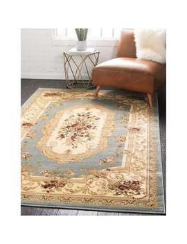 Unique Loom Henry Versailles Area Rug   Slate Blue   5' X 8' by Unique Loom