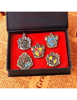 2019 Set Of 5 Pcs Harry Potter Hogwarts House Metal Pin Badge In Box Xmas Gifts by Ebay Seller