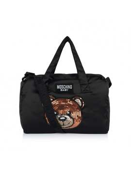 Black Teddy Baby Changing Bag by Moschino
