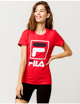 Fila Stacked Red Womens Tee by Fila