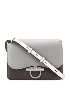 Classic Flab Two Tone Shoulder Bag by Salvatore Ferragamo