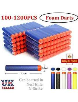 100/1200 For Nerf Gun Refill Bullets Darts Round Head Blasters N Strike Toy by Ebay Seller