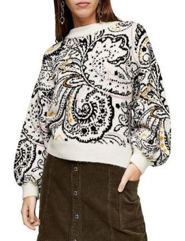 Paisley Floral Sweater by Topshop