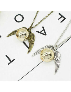 Harry Potter Golden Snitch Necklace Charm Silver Bronze Quidditch by Ebay Seller