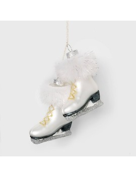 Ice Skate Christmas Ornament White   Wondershop™ by Shop This Collection
