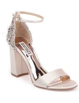 Badgley Mischka Ainsley Crystal Embellished Ankle Strap Sandal by Badgley Mischka Collection