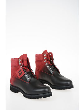 Timberland Leather Ankle Boots by Marcelo Burlon