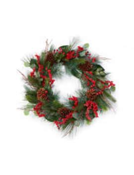 Winter Wonder Lane Pinecone & Red Berry Wreath by Winter Wonder Lane Pinecone & Red Berry Wreath