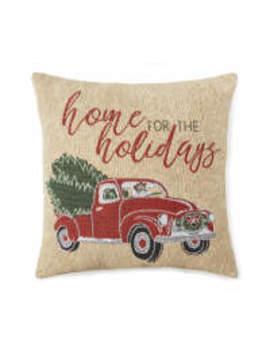 """Winter Wonder Lane Vintage Red Truck Decorative Pillow, (18"""" X 18"""") by Winter Wonder Lane Vintage Red Truck Decorative Pillow, (18"""" X 18"""")"""