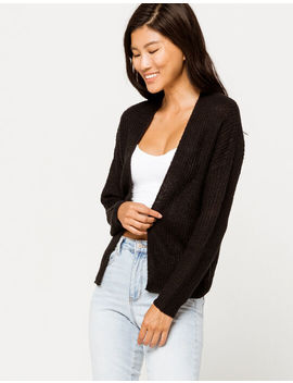 Full Tilt Essential Black Womens Cardigan by Full Tilt