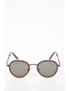 Linda Farrow Round Sunglasses by Raf Simons