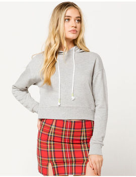 Full Tilt Neon Cord Gray Womens Hoodie by Full Tilt